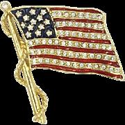 JBK American Flag Camrose Cross Jaqueline Bouvier Kennedy Pin