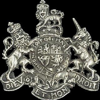 Steiff Sterling Coat of Arms Kings Arm Pin Brooch