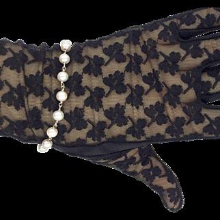 14 K White Gold Genuine Pearl Bracelet