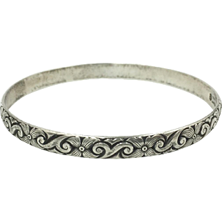 Danecraft Felch Sterling Bangle Bracelet