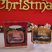 Thomas Kinkade Ceramic Christmas Ornament  NIB Collector Series Victorian II