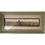 Original water color by Daniel Maldonado framed Western Landscape