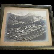 Vintage Swiss alps original photograph
