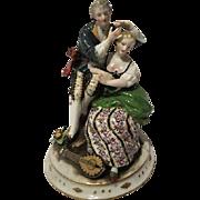 Vintage 1940s Porcelain figural Figurine High color hand paint