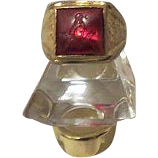 Vintage art Deco Free Masons Fraternity Mens Ring 10k goldfilled
