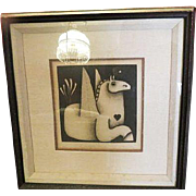 Vintage Carolyn Jablonsky Winged Horse AP Artist Proof Hand signed Fine art