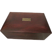 Antique 19th c Mahogany Humidor