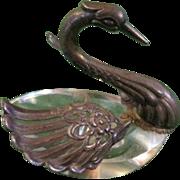 Antique Sterling silver SWAN salt tableware