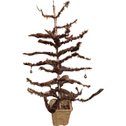 "Vintage  christmas feather tree 32"" 1920s"