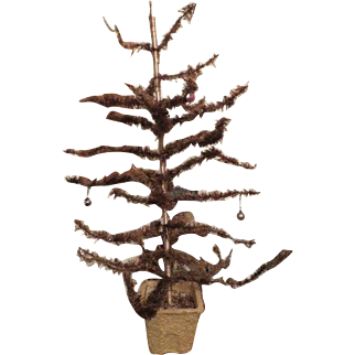 """Vintage  christmas feather tree 32"""" 1920s"""