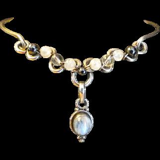 Vintage .925 sterling silver Choker necklace