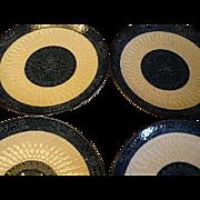 Arita-yaki ware type Blue Celedon Japanese set of four  Plates
