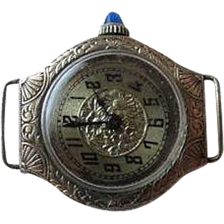 Ladies, white gold filled, manually wound wristwatch, imported from Switzerland by the Stona Watch Company of N.Y.C., N.Y., cased by the Premo Watch Case Company, a subsidiary of the Gruen Watch Company, Switzerland, circa 1935-1950.