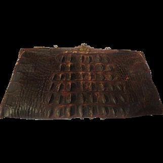 Antique Hornback Alligator Leather Purse/Clutch