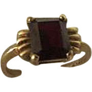Antique Victorian Womens 1 carat Genuine Ruby Ring 10k Gold