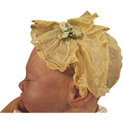Antique Victorian baby doll bonnet