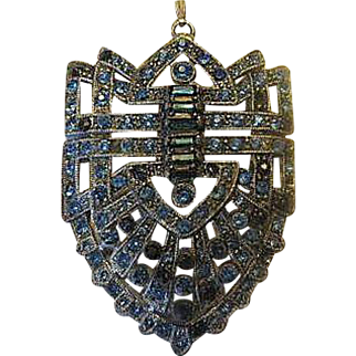 Vintage Beautiful Large Art Deco Pendant
