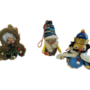 Vintage Original Steinbach German CHRISTMAS Ornaments boxed set