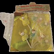 Vintage Christmas Pipe cleaner Angels OLD WOOLSWORTH Package
