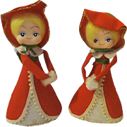 Vintage Christmas Carols decoration Dolls