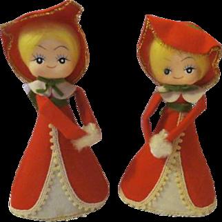 Vintage Christmas Carols decoration Dolls