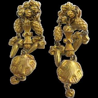 Vintage Hattie Carnegie clip earrings