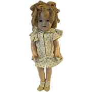 "Vintage 1930s composition 18"" shirley Temple Doll"