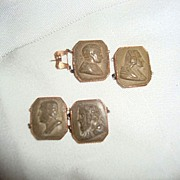 Antique cameo Greek heads male portraits of  emperors rulers pcs of  jewelry