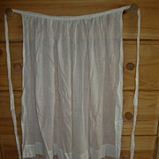 "Antique Victorian white hand made lace & cotton 38"" womens apron"