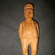 Vintage German hand carved Black forest wood Old salty Nautical Ships Captain