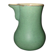 lovatt langley mills pottery made in England green antique green leadless glaze creamer