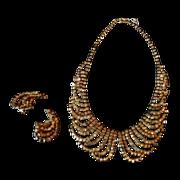 Vintage signed Hattie Carnegie Necklace & earrings set