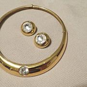 LANVIN PARIS Vintage 1980s Choker Necklace & earring Set