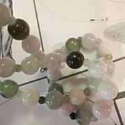 Womens Vintage Jade Bead Necklace
