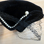 Vintage womans Black hat valeries models