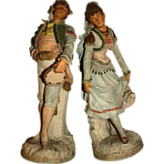 Antique Pr. Johann Maresch Terra Cotta Figures