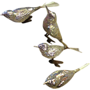Vintage CHRISTMAS mercury glass birds