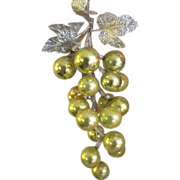 Vintage CHRISTMAS large bundle of glass grapes