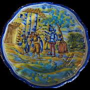 Spanish Majolica CERAMIC plate TALAVERA Niveiro signed