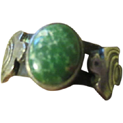Vintage Native American Indian Sterling and Turquoise Ring OLD PAWN very small size 4