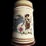 Antique 19th century hand painted German STEIN