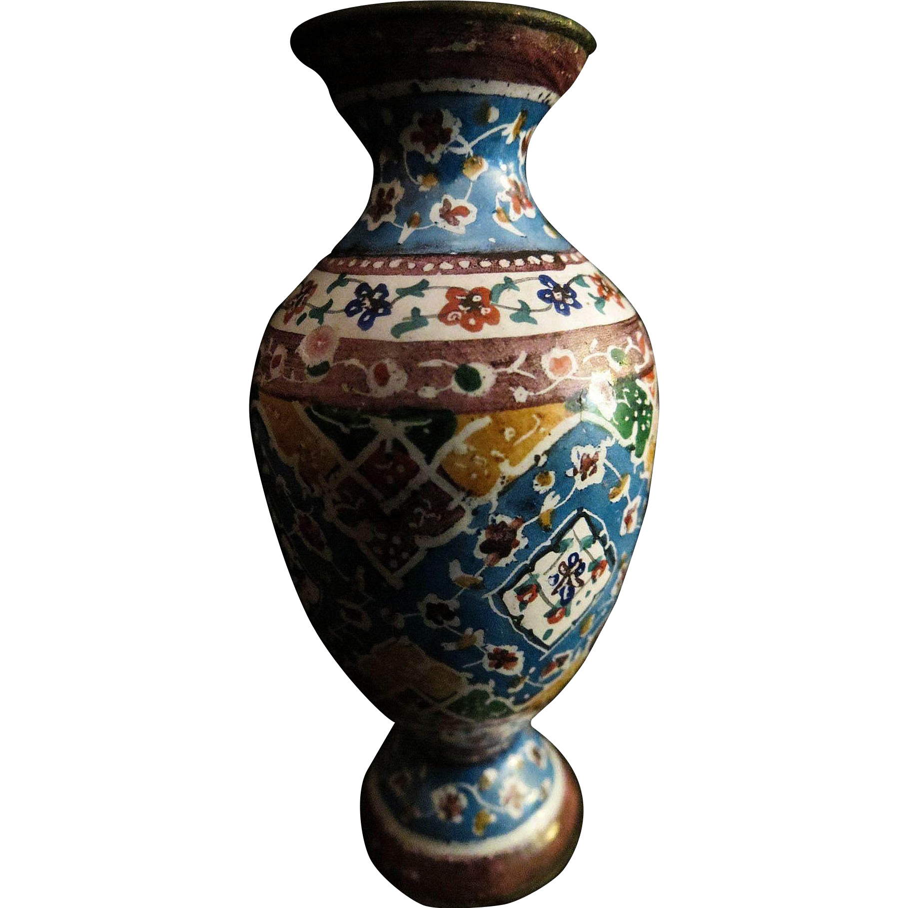 Antique Cloisonne Chinese Doll House Miniature Vase Unusual Pattern From 2271668 On Ruby Lane