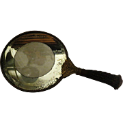 Art Nouveau hand Mirror with horn handle