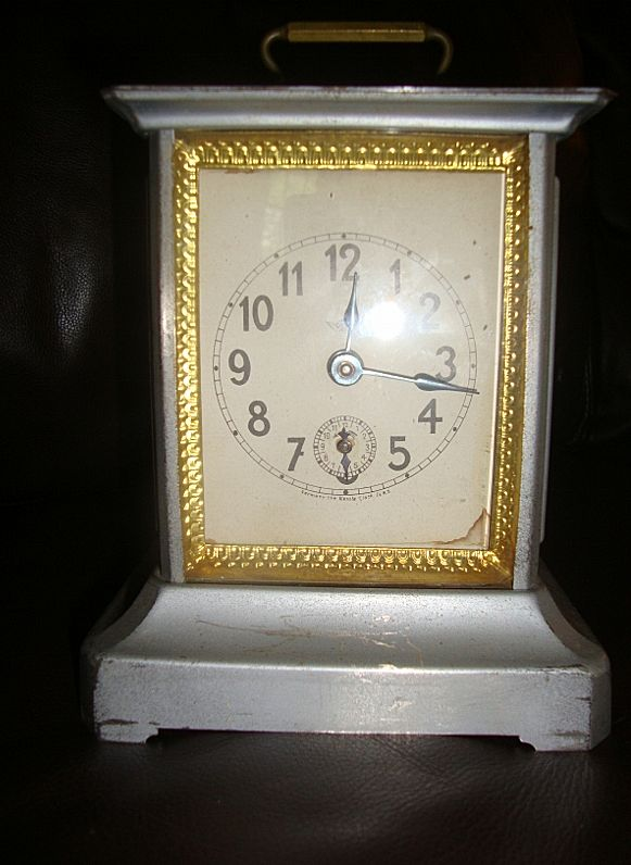 Antique Carriage Musical Alarm  Kienzle Clock co. N.Y