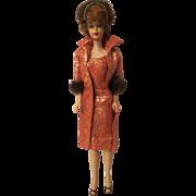 Vintage Titian Bubblecut Barbie wearing excellent Golden Elegance #992 (1963)