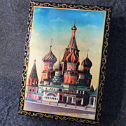Signed Russian Enameled Dresser Box