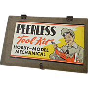 1950's Peerless Tool Kit Wood Box