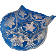 EAPG  1907 Fenton  Star and Swag Pattern Banana Bowl