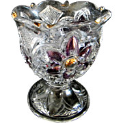 "EAPG  U.S. Glass Company ""Bouquet""  Spooner"