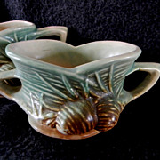 1946 Set of McCoy Pinecone Creamer and Sugar Bowl